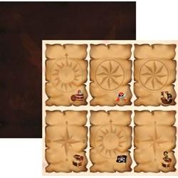 Folha Dupla Face Scrapbooking (SDF517) 16199 Piratas Convites