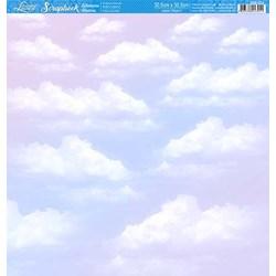 Folha Scrap Básico SBB-029 Céu com Nuvens