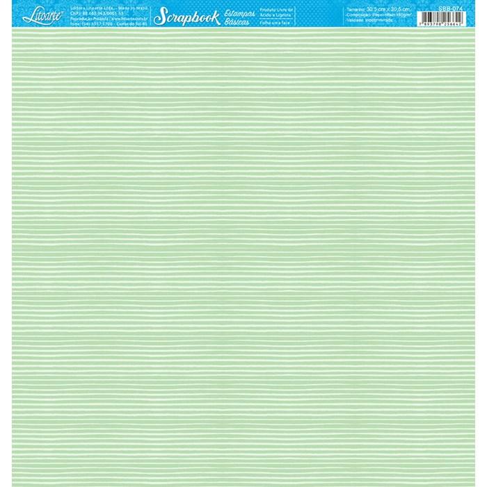 Folha Scrap Básico SBB-074 Listrado Verde