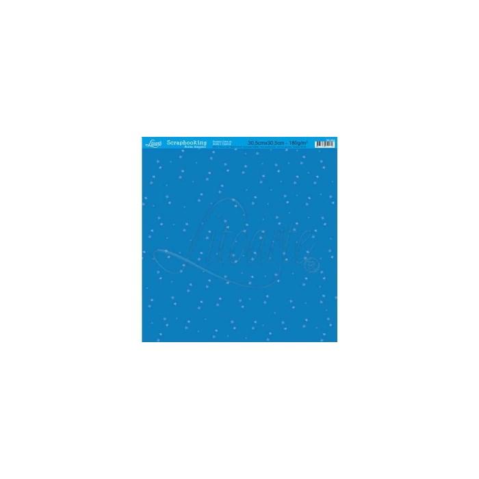 Folha Simples Scrapbook SS-004 Blue Star