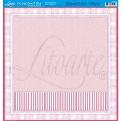 Folha Simples Scrapbook SS-005 Patch Baby Pink