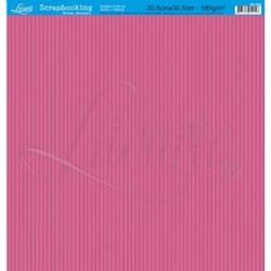 Folha Simples Scrapbook SS-006 Listras Pink