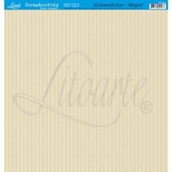 Folha Simples Scrapbook SS-007 Listrar Bege