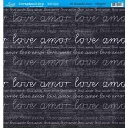 Folha Simples Scrapbook SS-012 Love