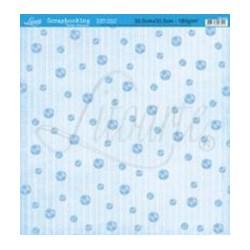 Folha Simples Scrapbook SS-043 Bolas Azul