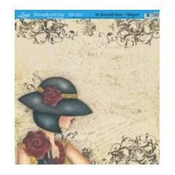 Folha Simples Scrapbook SS-073 Post Card