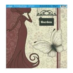 Folha Simples Scrapbook SS-079 Garden