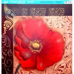 Folha Simples Scrapbook SS-082 Magnólia