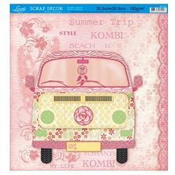 Folha Simples Scrapbook SS-097 My Life Kombi