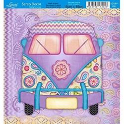 Folha Simples Scrapbook SS-098 Kompi Romantic