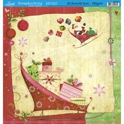 Folha Simples Scrapbooking Natal SSN-004 Presentes de Natal