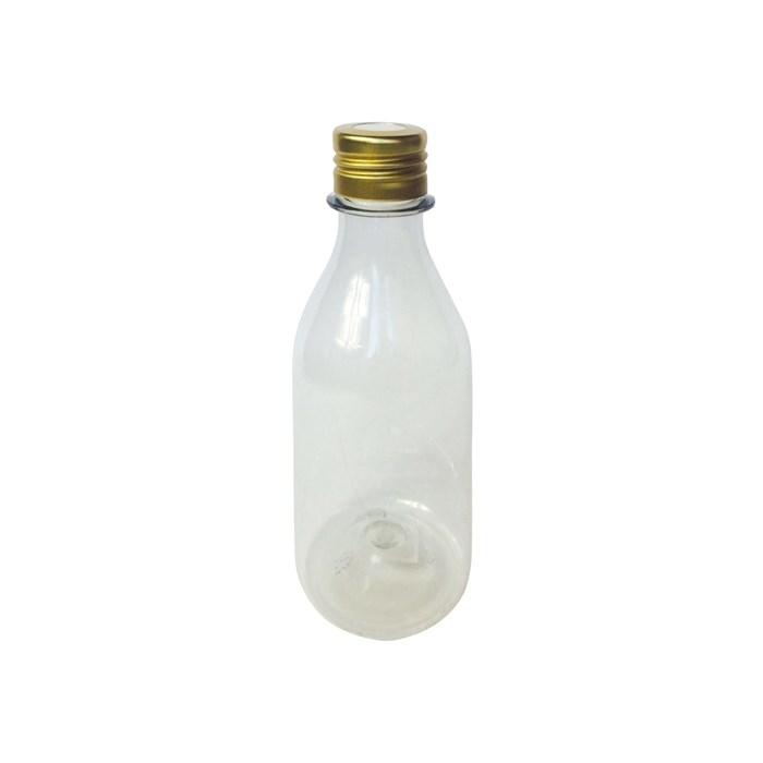 Frasco Pet Garrafa para Aromatizador 200mL 018670 Tampa Metal Dourada