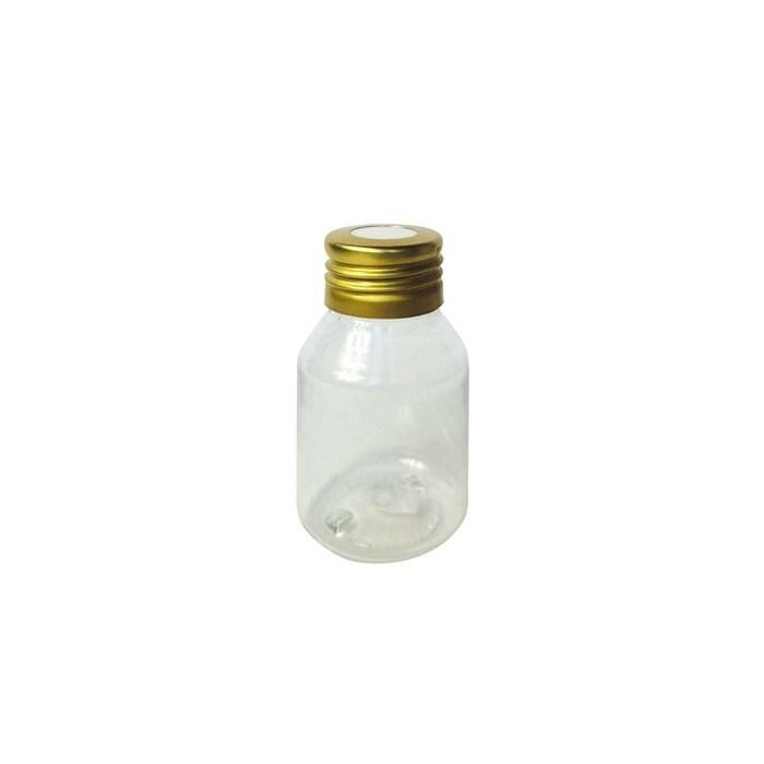 Frasco Pet para Aromatizador 60mL 006165 Tampa Metal Dourada