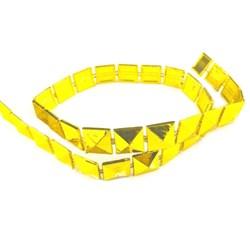 Galão Quadrado Cônico Dourado GL-010 - com 1 metro