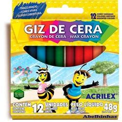 Giz de Cera Acrilex - com 12 cores