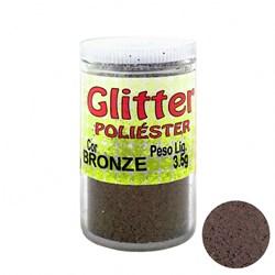 Glitter Poliéster Bronze 3,5grs