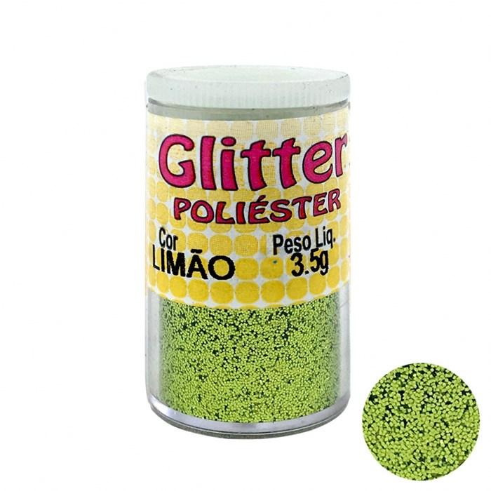 Glitter Poliéster Limão 3,5grs