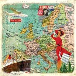 Guardanapo GD-113 (1331365) Travel to Europe - com 1 unidade