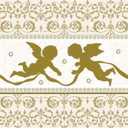 Guardanapo GD-134 (33304425) Angels Silhouette Gold - com 1 unidade