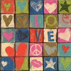 Guardanapo GD-154 (21862) Love and Peace - com 1 unidade