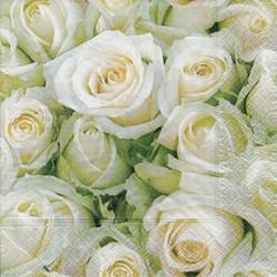 Guardanapo GD-173 (21454) White Roses - com 1 unidade