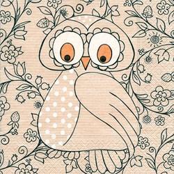 Guardanapo GD-206 (21835) Mrs. Owl - com 1 unidade