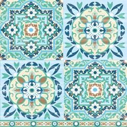 Guardanapo GD-279 (13309315) Azulejos Verdes - 1 unidade