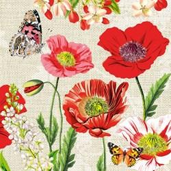 Guardanapo GD-346 (75147) Flores Vermelhas - com 1 unidade