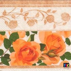Guardanapo GD-69 (15460) Rosas Amarelas Barrado - com 1 unidade
