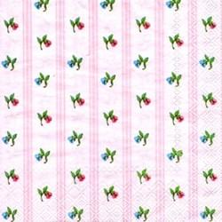 Guardanapo GDF-106 (L428050) Flores Mini Fundo Rosa - com 1 unidade