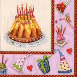 Guardanapo GDF-118 (13305941) Happy Birthday Pink - com 1 unidade