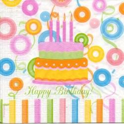 Guardanapo GDF-168 (7322) Happy Birthday - com 1 unidade