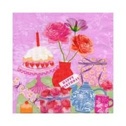 Guardanapo GDF-291 Happy Birthday Rosa - com 1 unidade
