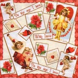 Guardanapo GDF-322 (13306630) Sweet Love - com 1 unidade