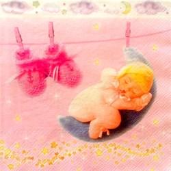 Guardanapo GDF-364 Baby Girl - com 1 unidade