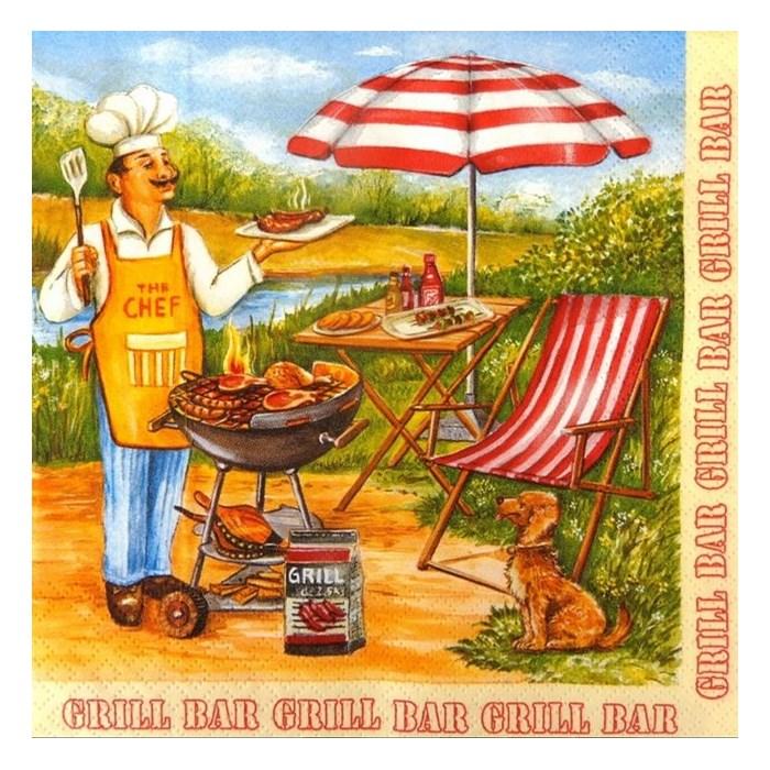 Guardanapo GDF-48 (SDOG006501) The Chef - com 1 unidade