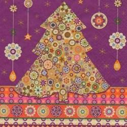 Guardanapo GDN-16 (11550) Árvore de Natal Mandalas - com 1 unidade