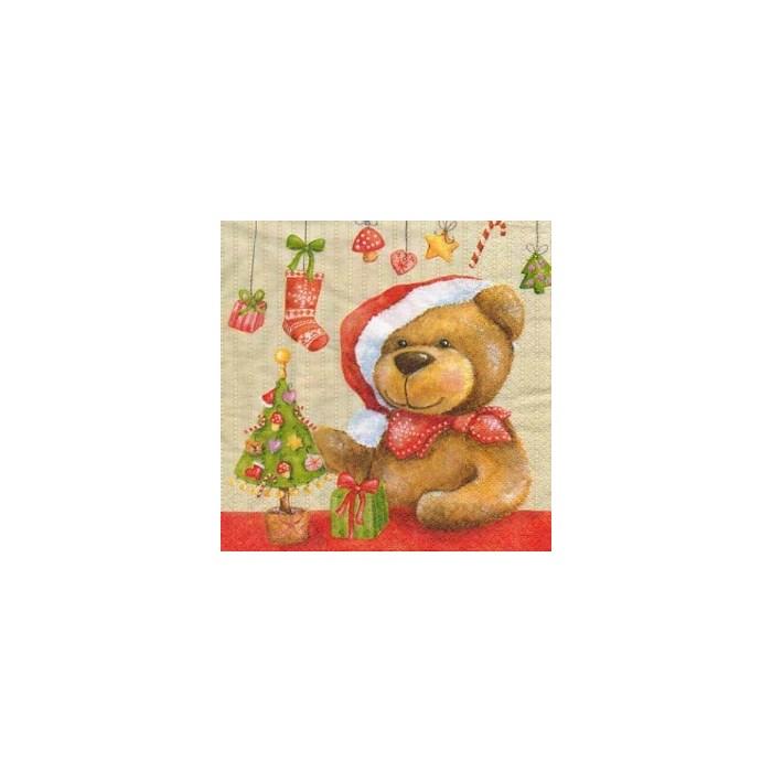 Guardanapo GDN-25 (10514) Urso Noel - com 1 unidade