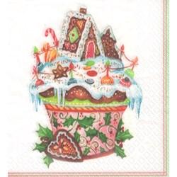 Guardanapo GDN-41 14076 (GCD611302) Cupcake Natalino - com 1 unidade