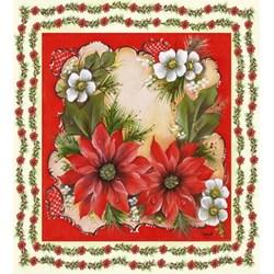 Guardanapo GDN-44 10057 (GBM027) Flores Natalinas - com 1 unidade