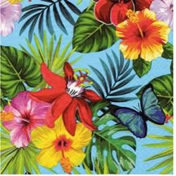 Guardanapo para Decoupage Arte Fácil GU-018 Flor Tropical FD Azul