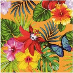 Guardanapo para Decoupage Arte Fácil GU-019 Flor Tropical FD Laranja