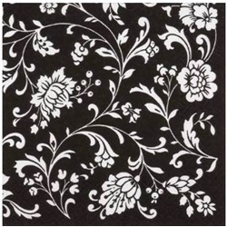 Guardanapo para Decoupage Arte Fácil GU-030 Arabescos Preto e Branco