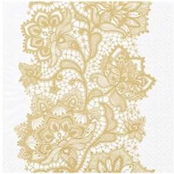 Guardanapo para Decoupage Arte Fácil GU-064 Padrão Renda de Ouro