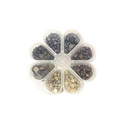 Kit Chaton Envelhecido 4 cores 8 modelos - Caixa flor com 200gramas