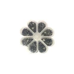 Kit Chaton Envelhecido Prata velho 8 modelos - Caixa flor com 200gramas