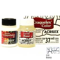 Kit Craquelex Color Acrilex 37mL - 519 Branco