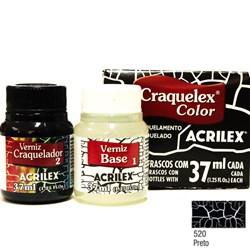Kit Craquelex Color Acrilex 37mL - 520 Preto