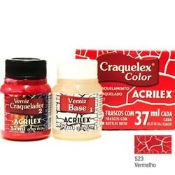 Kit Craquelex Color Acrilex 37mL - 523 Vermelho