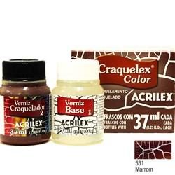 Kit Craquelex Color Acrilex 37mL - 531 Marrom